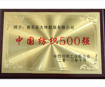 "China textile industry association ""Chinese textile 500 strong"""